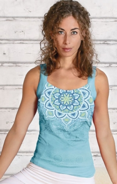 Yoga-Top tropical blue - 3695