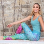 Yoga-Leggings karibik-blue