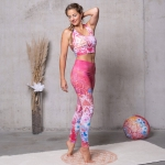 Yoga-Leggings Bravery pink/bunt